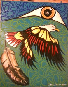 Eagle/Feather/Eye